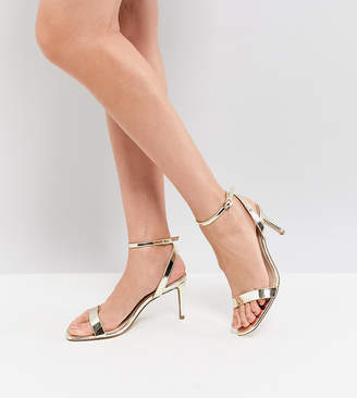 aae0207a7d7 Barely There Asos Design ASOS HALF TIME Heeled Sandals
