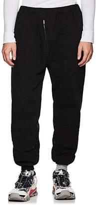 Katharine Hamnett Men's Cotton Drop-Rise Flight Trousers - Black