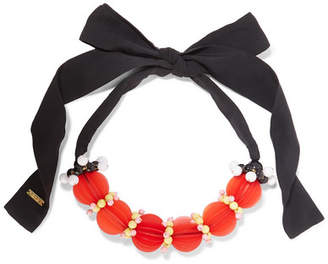 Marni Cotton, Resin And Plastic Necklace - Red