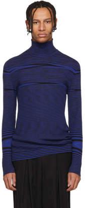 Missoni Blue Striped Mock Neck Sweater