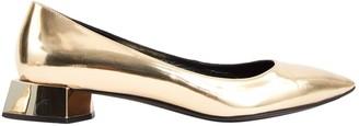 Fendi Gold Patent leather Flats
