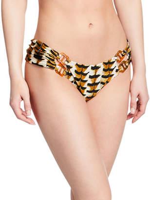 Agua de Coco Animal-Print Hipster Bikini Bottom