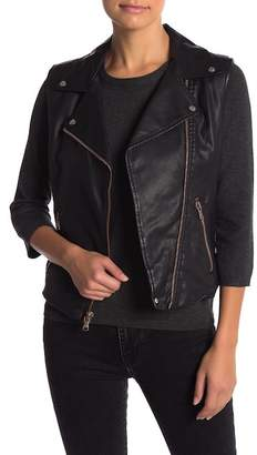 Levi's Faux Leather Moto Vest