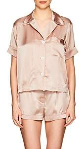 Araks Women's Shelby Silk Charmeuse Pajama Top - Light, Pastel pink