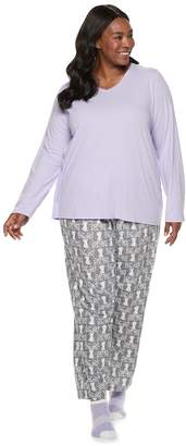 Croft & Barrow Plus Size Tee, Pants & Socks Pajama Set