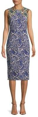 Diane von Furstenberg Paisley Print Sleeveless Sheath Dress
