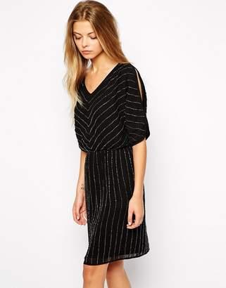 Vila Embellished Beaded Dress