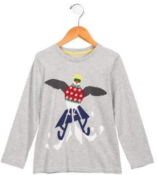 Boden Mini Boys' Penguin Print Long Sleeve Shirt