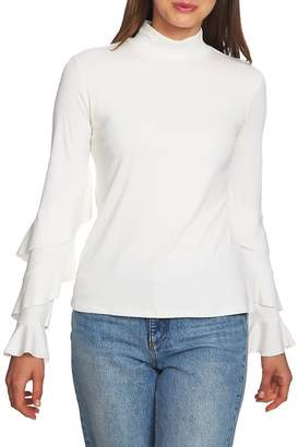 1 STATE 1.State Ruffle Sleeve Rib Knit Top