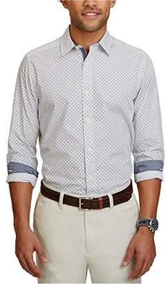 Nautica Men's Long Sleeve Classic Fit Printed Button Down Shirt