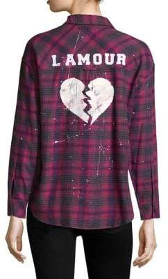 Rails Plaid-Print L'Amour Shirt
