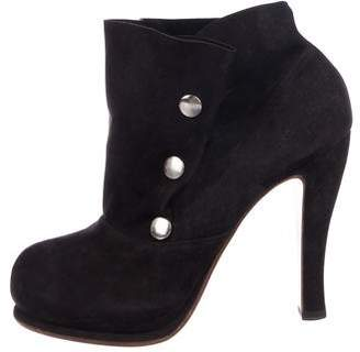 Michel Perry Suede Ankle Boots