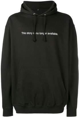 F.A.M.T. slogan print hooded sweatshirt