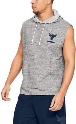 Under Armour Men's Project Rock Terry Sleeveless Hoodie