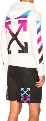Off-White Off White Diagonal Gradient Full Zip Hoodie
