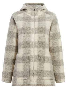 Woolrich Chilly Days Checked Hooded Fleece Jacket
