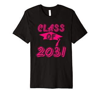 with me. Class Of 2031 Graduation Cap Grow Graduate Kids Gift Premium T-Shirt