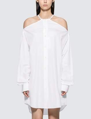 Maison Margiela Cold Shoulder Shirt Dress