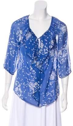 Yoana Baraschi Silk Ruffled Blouse