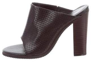 Tibi Leather Slide Wedges