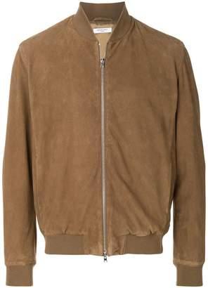 Boglioli zipped bomber jacket