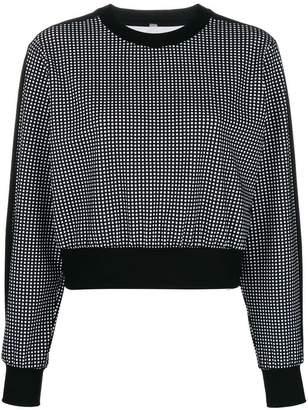 NO KA 'OI No Ka' Oi polka dot cropped sweatshirt