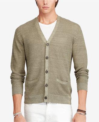 Polo Ralph Lauren Men's V-Neck Cardigan $185 thestylecure.com