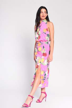 Glamorous Womens **Citrus Floral Dress By Pink
