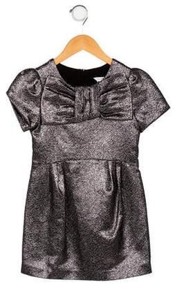 Little Marc Jacobs Girls' Metallic Short Sleeve Dress