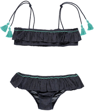 LISON PARIS Sofia Denim Bikini $85.20 thestylecure.com