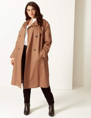 Marks and Spencer CURVE Longline Trench Coat with Stormwear