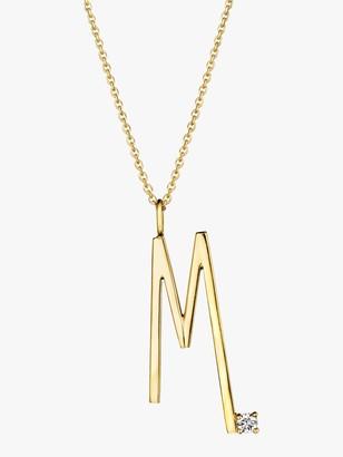 Mimi So Type Letter &M& Pendant
