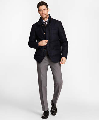 Brooks Brothers Mixed-Media Wool Hybrid Jacket