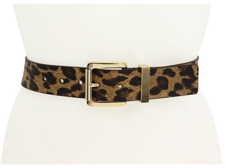 MICHAEL Michael Kors Animal Print 1 1/4 Leopard Belt (Leopard) - Apparel