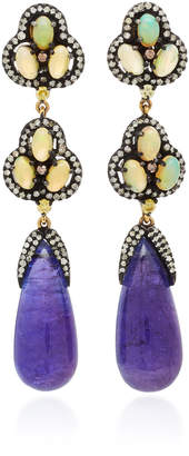 Amrapali 14K Gold Multi-Stone Earrings