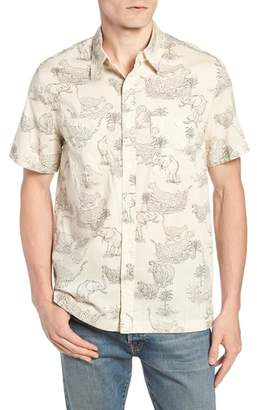 J.Crew Regular Fit Safari Print Sport Shirt