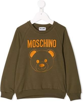 Moschino Kids embroidered logo sweatshirt