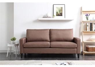 "Leonel Signature 74"" Track Arm Sofa with Linen Textured Fabric"