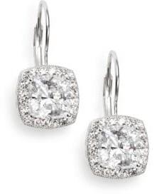 Adriana Orsini Crystal Pavé Cushion Drop Earrings
