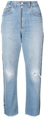 RE/DONE high rise relaxed crop jeans