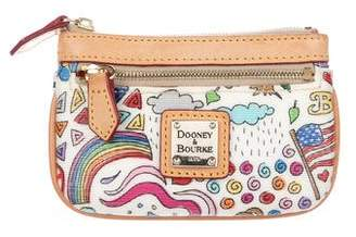 Dooney & Bourke Printed Canvas Key Pouch