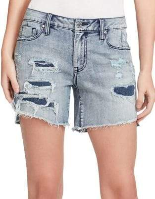 Jessica Simpson Mika Best Friend Midi Denim Shorts