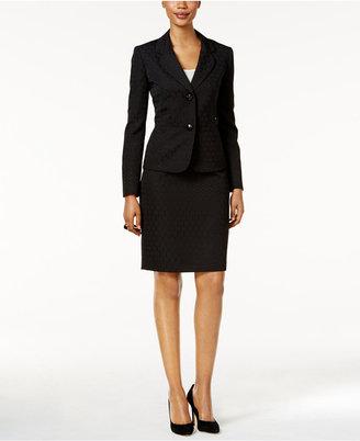 Le Suit Tonal Jacquard Skirt Suit $200 thestylecure.com