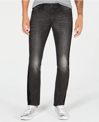 INC International Concepts I.N.C. Men's Velvet Side Stripe Skinny Jeans, Created for Macy's