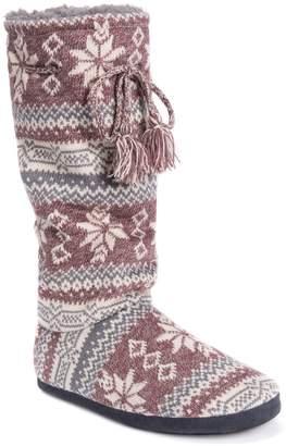 Muk Luks Women's Gloria Knit Tall Boot Slippers
