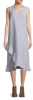 Lord & Taylor Stripe Sleeveless Dress
