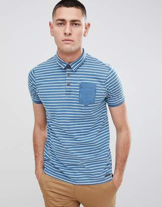 Brave Soul Stripe Polo Shirt