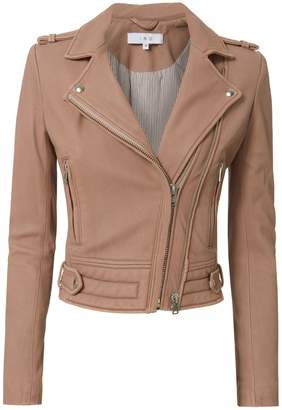 IRO Luiga Pink Cropped Leather Jacket
