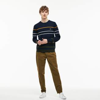 Lacoste Men's Boxy Fit Texturized Stretch Cotton Twill Chino Pants