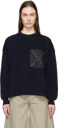 Stella McCartney Navy Ribbed Sweater